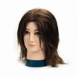 Brave Head férfi babafej humán hajjal, 20 cm