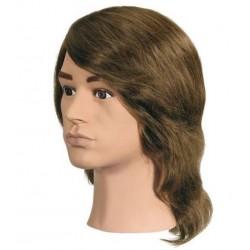 Eurostil férfi babafej humán hajjal, 20 cm