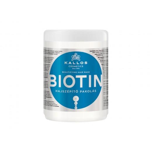 Kallos Biotin hajszépítő pakolás, 1 l